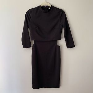 Forever 21 Black Knit Dress with Side Cutouts